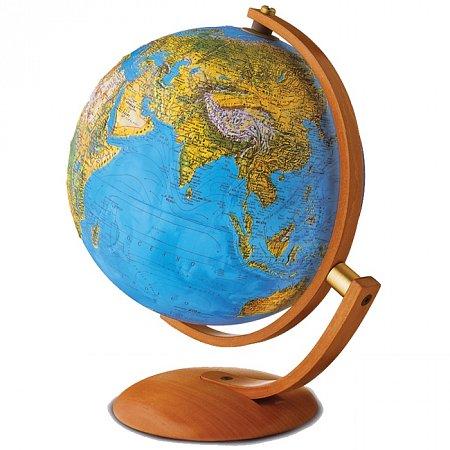 Глобус рельефный с подсветкой Максимус, 30 см (Рус. язык, физический/политический), Tecnodidattica 5131