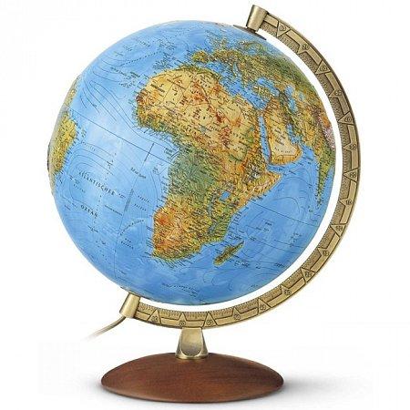 Глобус рельефный с подсветкой Примус, 30 см (Рус. язык, физический/политический), Tecnodidattica 2586
