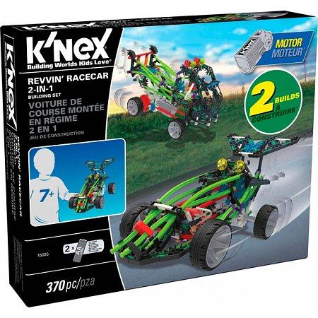 Гоночная машина 2 в 1 (370 деталей), набор для конструирования, K`nex, 16005
