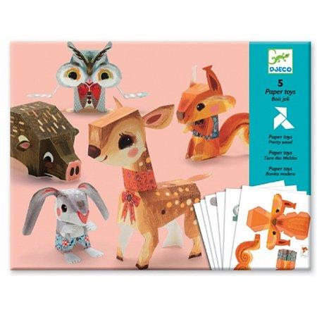 Художественный комплект Djeco Оригами Лесные животные , DJ09674