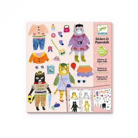 Художественный комплект с наклейками Djeco Мои друзья Мурлыки , DJ09695