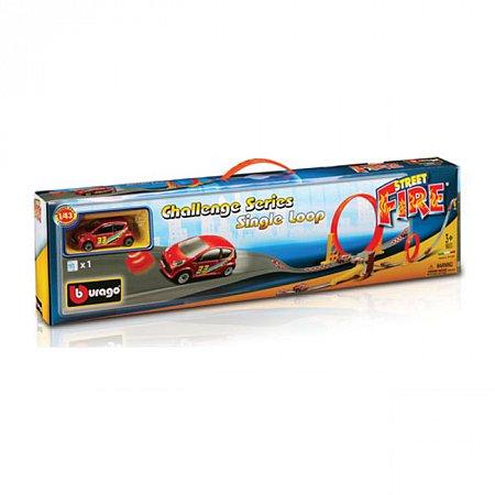 Игровой набор Bburago - ТРЕК СКОРОСТНАЯ ПЕТЛЯ (1 дорожка + 1 машинка), 18-30069 Bburago