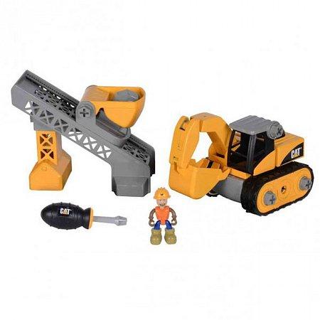 Игровой набор-конструктор Machine Maker экскаватор и конвейер-подъемник CAT, Toy State, 80913