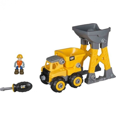 Игровой набор-конструктор Machine Maker самосвал и башня-погрузчик CAT, Toy State, 80911