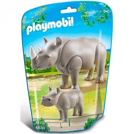 Игровой набор Носорог с детёнышем, Playmobil, 6638