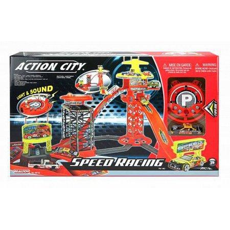 Игровой набор Realtoy Скоростные гонки с машиной, 28116