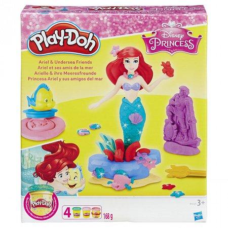 Игровой набор с пластилином Hasbro Ариель и подводные друзья, Play - Doh, B5529