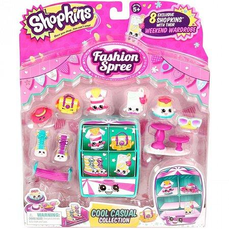 Игровой набор Shopkins S3 серия Модняшки - Кежуал, 8 фигурок, Shopkins, 56108