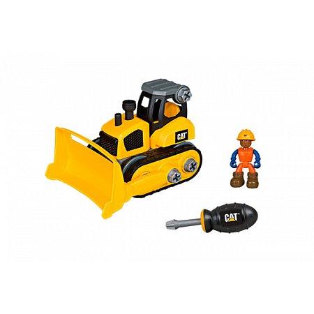 Игрушка-конструктор Machine Maker бульдозер CAT, Toy State, 80902