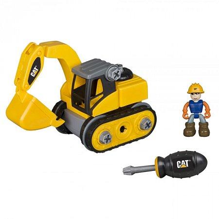 Игрушка-конструктор Machine Maker экскаватор CAT, Toy State, 80903
