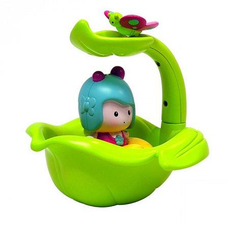 Интерактивная игрушка - МИМИ И ВОЛШЕБНАЯ ЛОДКА-ЛИСТОК (для игры в ванной), Ouaps 61070 Ouaps
