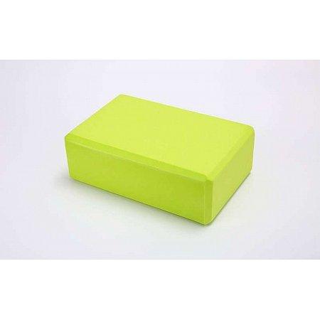 Йога-блок FI-5951-G (EVA 100гр, р-р 23 x 15,5 x 8см, салатовый)
