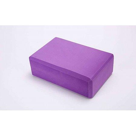 Йога-блок FI-5951-V (EVA 100гр, р-р 23 x 15,5 x 8см, фиолетовый)