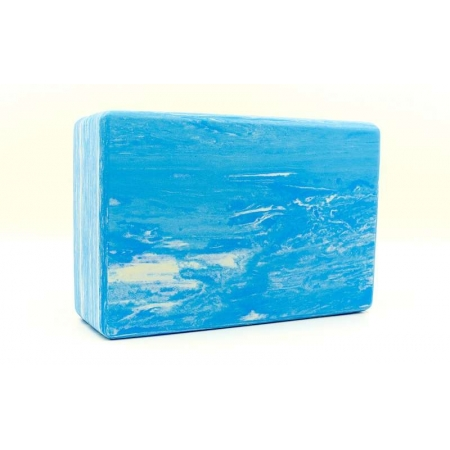 Йога-блок мультиколор FI-5164-B (EVA, р-р 23х15х7,5см, синий)