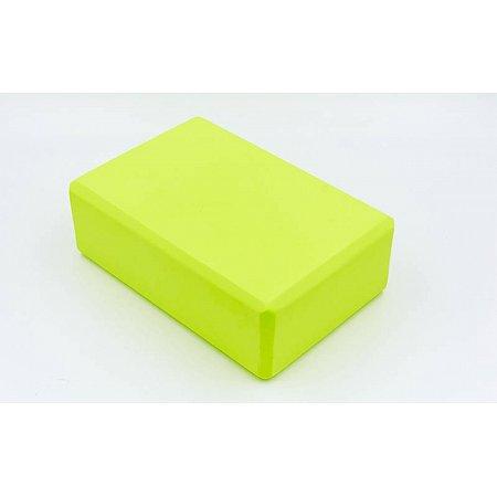Йога-блок RI-7736-G (EVA 75гр, р-р 23 x 15,5 x 7,5см, салатовый)