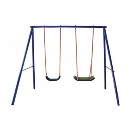 Качели детские для улицы 2-х местные C-S004 (металл, р-р 258х187х180см, 20кг)