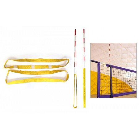Карманы для антенн волейбольных пляжных UR SO-5276 (стандарт FIVB, прорез.ткань,в компл.2шт, желтый)