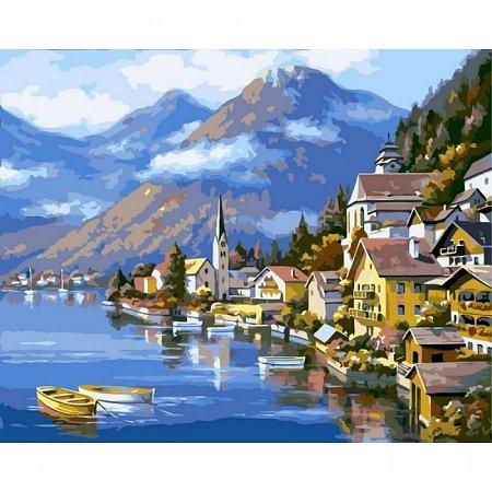 Картина по номерам Альпийская деревня 40х50см, Babylon VP218
