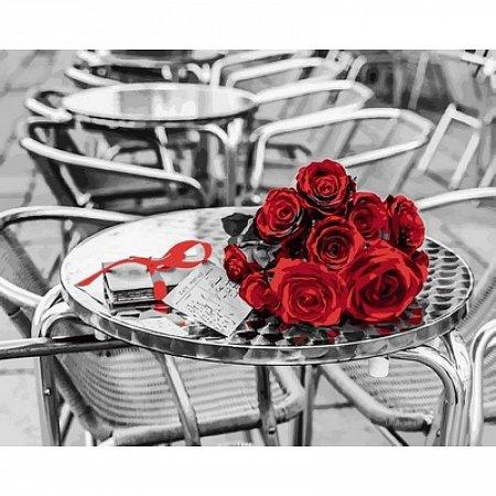 Картина по номерам Букет красных роз. Ассаф Франк 40х50см, Babylon VP699