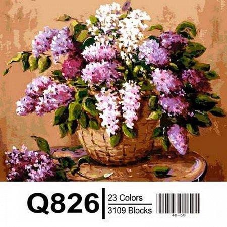 Картина по номерам Букет сирени в корзине 40х50см, Mariposa Q826