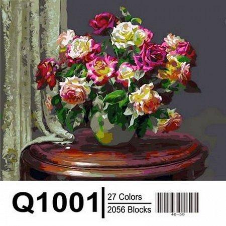 Картина по номерам Чайные розы 40х50см, Mariposa Q1001