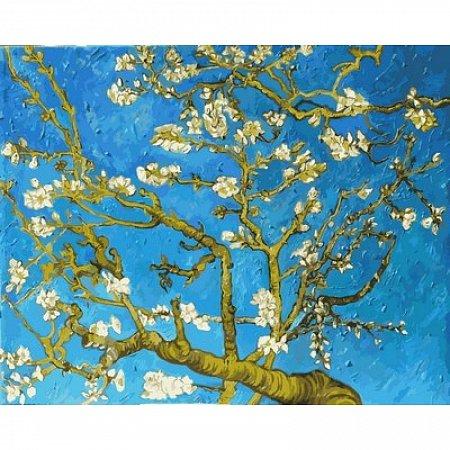 Картина по номерам Цветущие ветки миндаля. Ван Гог 40х50см, Babylon VP593
