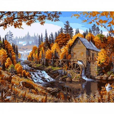 Картина по номерам Дом в лесу 40х50см, Babylon VP143