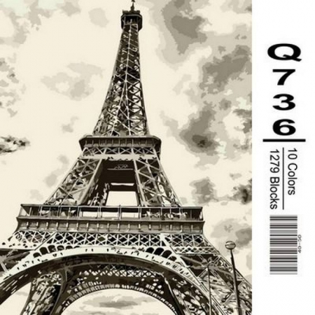 Картина по номерам Эйфелева башня 40х50см, Mariposa Q736