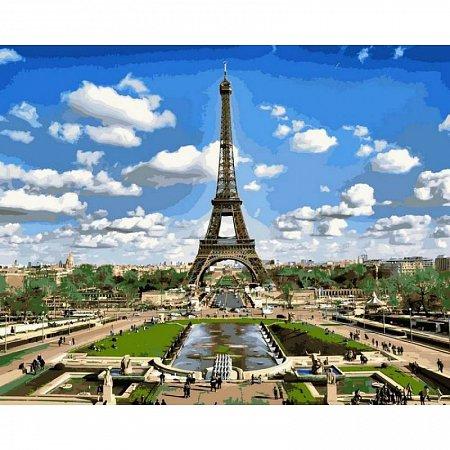 Картина по номерам Эйфелева башня весной 40х50см, Babylon VP515