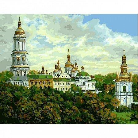 Картина по номерам Киево-Печерская Лавра летом 40х50см, Babylon VP489