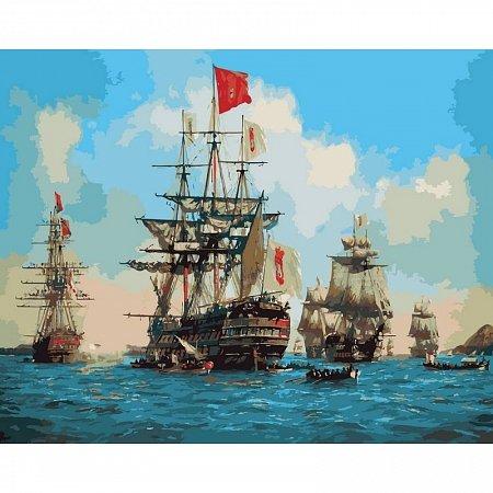 Картина по номерам Королевские парусники 40х50см, Babylon VP258