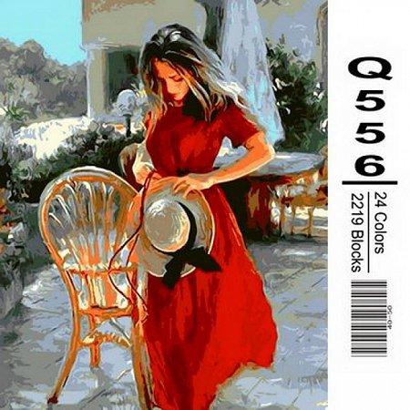 Картина по номерам Красная лента 40х50см, Mariposa Q556