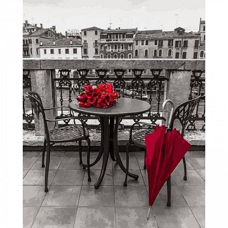 Картина по номерам Красный зонт. Ассаф Франк 40х50см, Babylon VP696