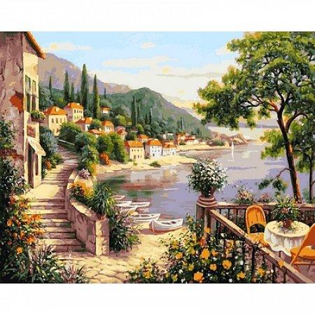 Картина по номерам Летняя гавань 40х50см, Babylon VP641