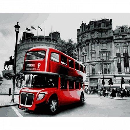 Картина по номерам Лондонский красный автобус 40х50см, Babylon VP724