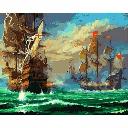 Картина по номерам Морской бой 40х50см, Babylon VP319