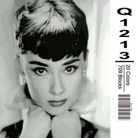 Картина по номерам Одри Хепберн 40х50см, Mariposa Q1213