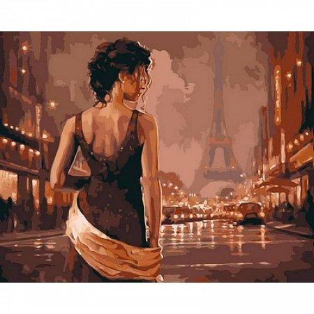 Картина по номерам Огни винтажного Парижа 40х50см, Babylon VP544