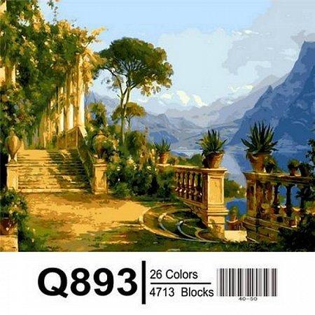 Картина по номерам Особняк с видом на море 40х50см, Mariposa Q893