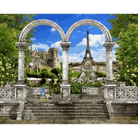 Картина по номерам Париж. Арка. 40х50см, Babylon VP518
