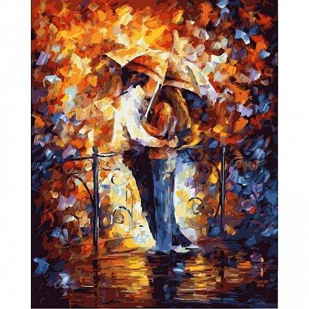 Картина по номерам Поцелуй на мосту 40х50см, Babylon vp363