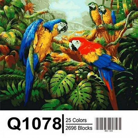 Картина по номерам Попугаи Ара 40х50см, Mariposa Q1078