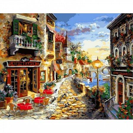 Картина по номерам Прибрежный ресторан 40х50см, Babylon VP300