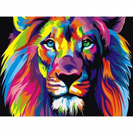 Картина по номерам Радужный лев 30x40см, Babylon VK001