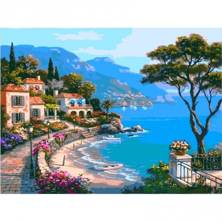 Картина по номерам Райский уголок 50х65см, Babylon VPS003