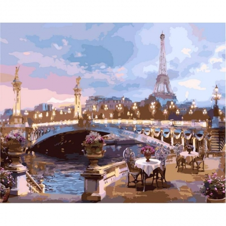 Картина по номерам Романтика вечернего Парижа 40х50см, Babylon VP519