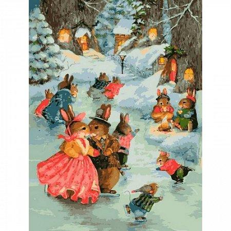 Картина по номерам Рождественская прогулка 30x40см, Babylon VK141