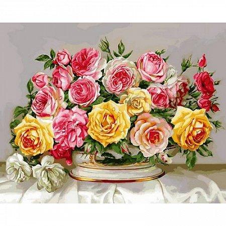 Картина по номерам Розовое великолепие 40х50см, Babylon VP577