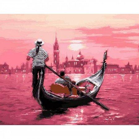 Картина по номерам Розовый закат Венеции 40х50см, Babylon VP554