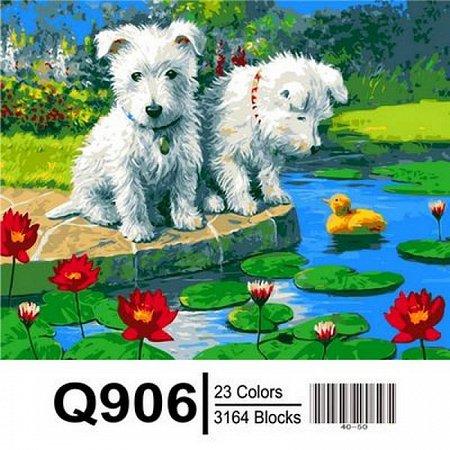 Картина по номерам Щенки и уточки 40х50см, Mariposa Q906
